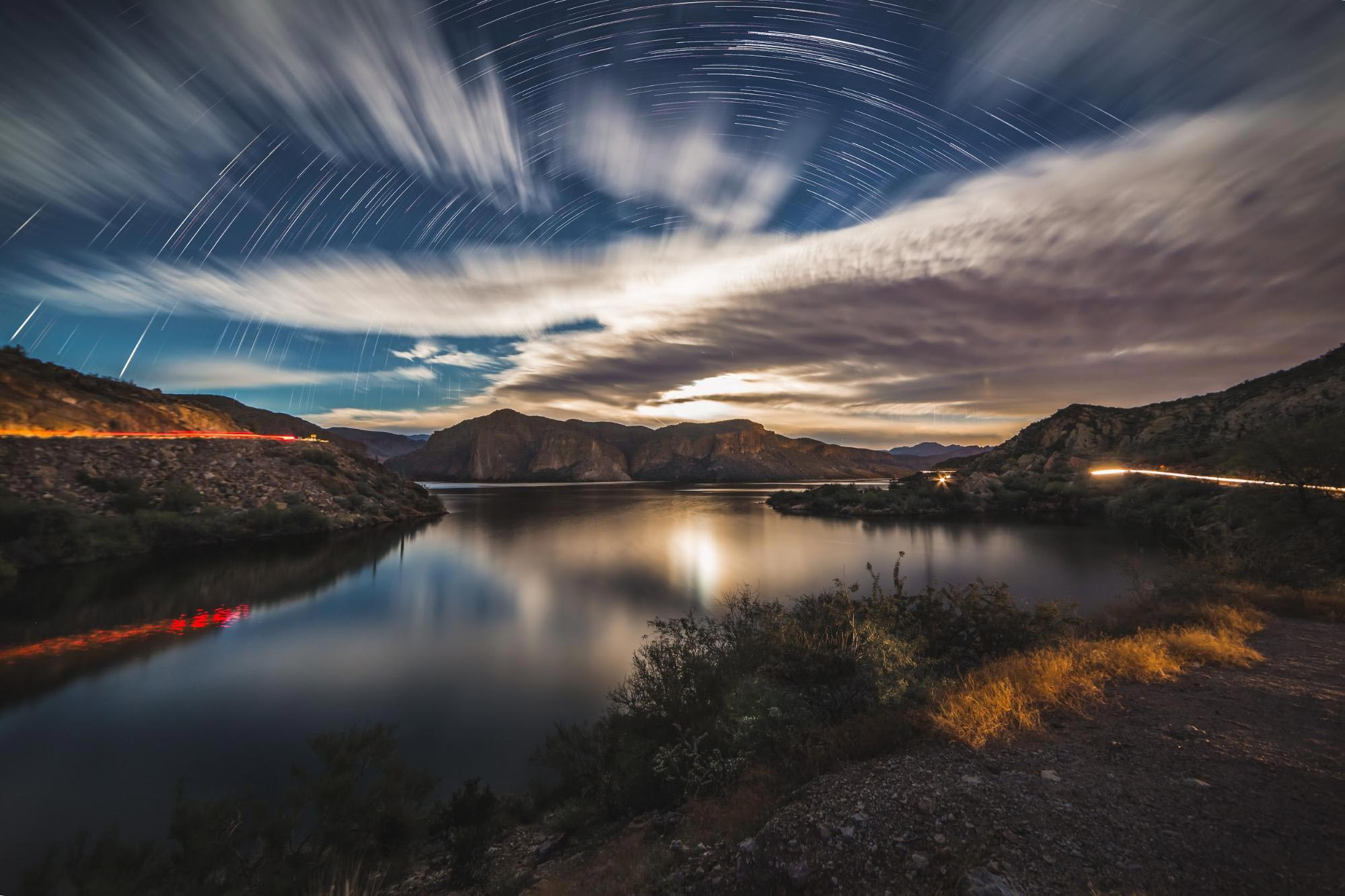 Moonlit Landscapes Lake Star Trails Photo Experience